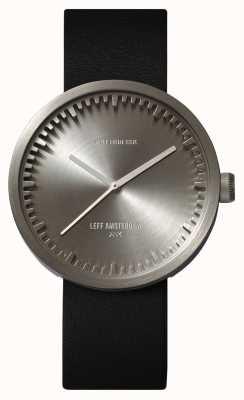 Leff Amsterdam Труба часы d42 стальной корпус черный кожаный ремешок LT72001