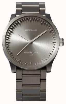 Leff Amsterdam Труба часы s42 стальной корпус стальной браслет LT72101