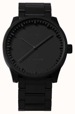 Leff Amsterdam Труба часы s38 черный чехол черный браслет LT71102