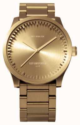 Leff Amsterdam Труба часы s38 латунный корпус латунный браслет LT71103