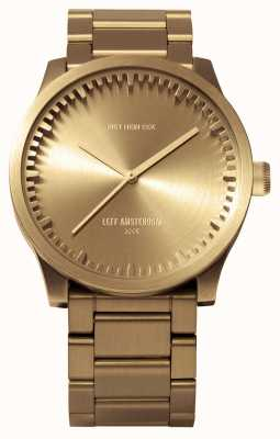 Leff Amsterdam Труба часы s42 латунный корпус латунный браслет LT72103