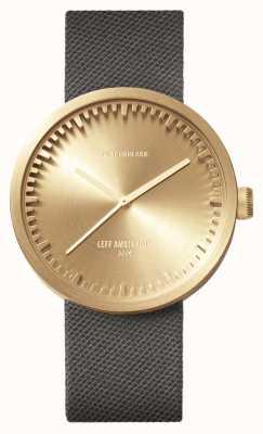 Leff Amsterdam Труба часы d42 латунный корпус серый шнур ремешок LT72025