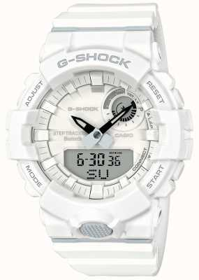Casio G-shock bluetooth fitness step tracker белый ремешок GBA-800-7AER