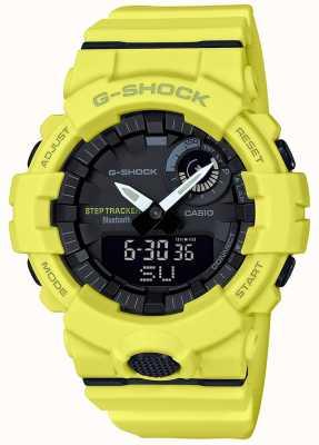 Casio G-shock bluetooth фитнес шаг трекер желтый ремешок GBA-800-9AER