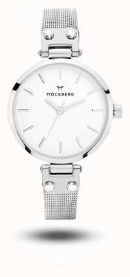 Mockberg Elise petite нержавеющая сталь сетчатый браслет белый циферблат MO402