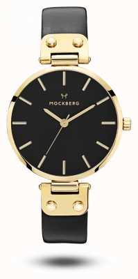 Mockberg Saga черный золотой pvd чехол черный ремешок черный циферблат MO113