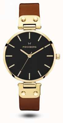 Mockberg Ilse черный, коричневый ремешок черный циферблат MO114