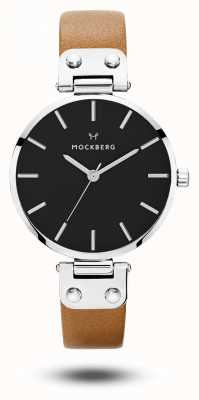 Mockberg Wera черный коричневый ремешок черный циферблат MO112