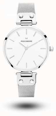 Mockberg Элиз из нержавеющей стали сетчатый браслет белый циферблат MO1602