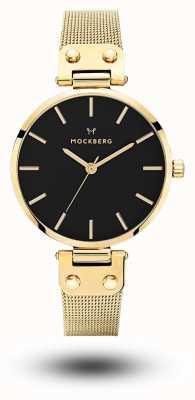 Mockberg Ливия noir золото pvd покрытием сетки черный циферблат MO1603