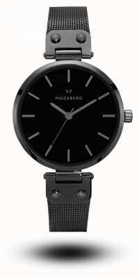 Mockberg Lio черный pvd покрынный сетчатый браслет черный циферблат MO305