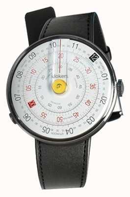 Klokers Klok 01 желтая головка часов черный сатин одиночный ремешок KLOK-01-D1+KLINK-01-MC1