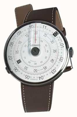 Klokers Klok 01 черная часовая головка шоколадно-коричневый одинарный ремешок KLOK-01-D2+KLINK-01-MC4