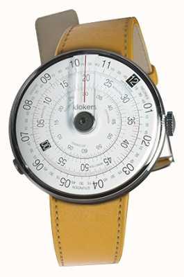 Klokers Klok 01 черная часовая головка ньюпорт желтый однорядный ремешок KLOK-01-D2+KLINK-01-MC7.1