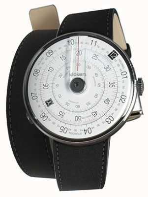 Klokers Klok 01 черный матовый ремешок для часов черный 380мм двойной ремешок KLOK-01-D2+KLINK-02-380C2