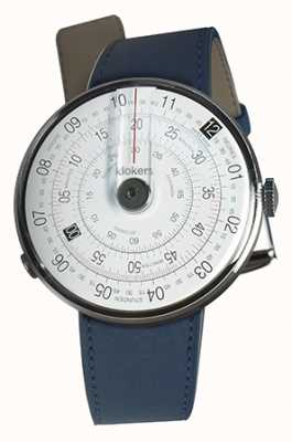 Klokers Klok 01 черная синяя ремешок для часов с голубым ремешком KLOK-01-D2+KLINK-02-380C3