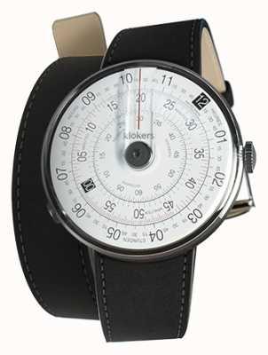 Klokers Klok 01 черный циферблат часов черный 420 мм двойной ремешок KLOK-01-D2+KLINK-02-420C2