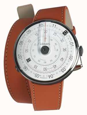Klokers Клок 01 черная головка для часов оранжевый 420 мм двойной ремешок KLOK-01-D2+KLINK-02-420C8