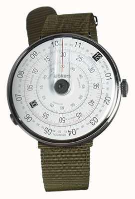 Klokers Klok 01 черный часы голова лишайник зеленый текстильный один ремешок KLOK-01-D2+KLINK-03-MC2