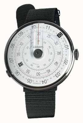 Klokers Klok 01 черный ремешок для часов черный текстильный одинарный ремешок KLOK-01-D2+KLINK-03-MC3
