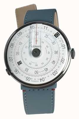Klokers Klok 01 черный часы головка синий джинс пролив одиночный ремешок KLOK-01-D2+KLINK-04-LC10