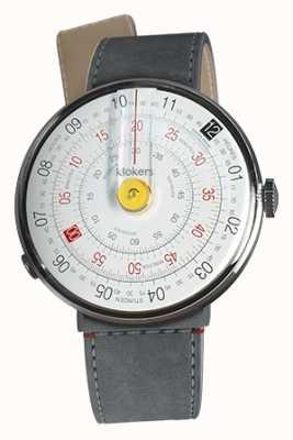 Klokers Klok 01 желтая головка часов серый алькантара пролив одиночный ремешок KLOK-01-D1+KLINK-04-LC11