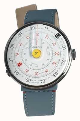 Klokers Klok 01 желтая головка часов синий джинс пролив одиночный ремешок KLOK-01-D1+KLINK-04-LC10