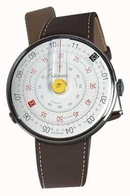 Klokers Klok 01 желтая головка часов шоколад коричневый одиночный ремешок KLOK-01-D1+KLINK-01-MC4