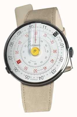 Klokers Klok 01 желтая головка часов серый алькантара одиночный ремешок KLOK-01-D1+KLINK-01-MC6