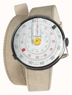 Klokers Klok 01 желтая головка часов серый алькантара двойной ремешок KLOK-01-D1+KLINK-02-380C6
