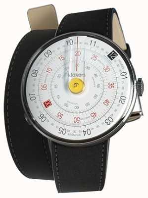 Klokers Klok 01 желтый циферблат часов черный 420 мм двойной ремешок KLOK-01-D1+KLINK-02-420C2