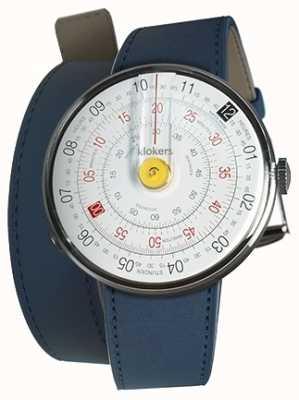 Klokers Klok 01 желтая головка для часов индиго синий 420 мм двойной ремешок KLOK-01-D1+KLINK-02-420C3