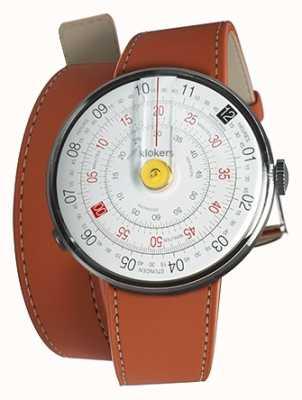Klokers Klok 01 желтая головка для часов оранжевый 420 мм двойной ремешок KLOK-01-D1+KLINK-02-420C8