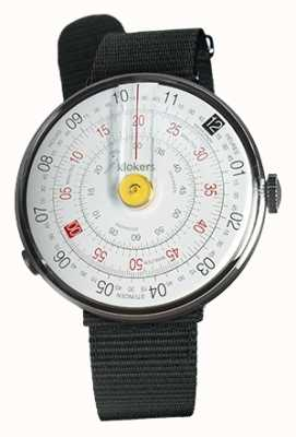 Klokers Klok 01 желтая головка часов черный текстильный одиночный ремешок KLOK-01-D1+KLINK-03-MC3
