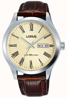 Lorus Кожаный браслет из нержавеющей стали RXN53DX9