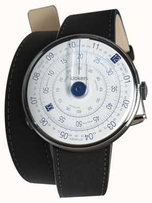 Klokers Klok 01 синий циферблат часов черный двойной ремешок KLOK-01-D4.1+KLINK-02-380C2