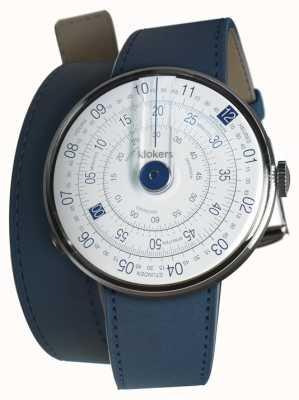 Klokers Klok 01 синяя головка часов индиго синий двойной ремешок KLOK-01-D4.1+KLINK-02-380C3