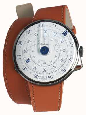 Klokers Klok 01 синяя головка для часов оранжевый 420 мм двойной ремешок KLOK-01-D4.1+KLINK-02-420C8