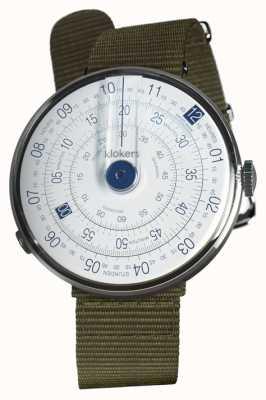 Klokers Klok 01 синяя часовая головка лишайник зеленый текстильный одиночный ремень KLOK-01-D4.1+KLINK-03-MC2