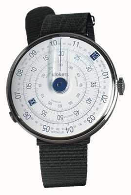 Klokers Klok 01 синяя часовая головка из черного текстиля KLOK-01-D4.1+KLINK-03-MC3
