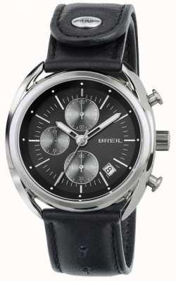 Breil Beaubourg нержавеющая сталь хронограф черный кожаный ремешок TW1527
