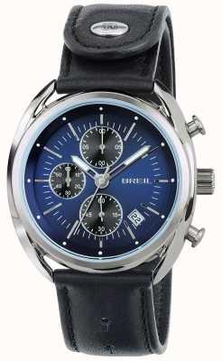 Breil Beaubourg нержавеющая сталь хронограф синий циферблат черный ремешок TW1528