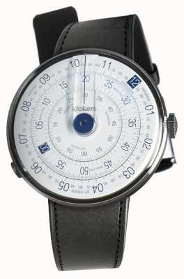 Klokers Klok 01 синяя часовая головка черный сатиновый ремешок KLOK-01-D4.1+KLINK-01-MC1