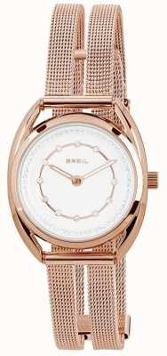 Breil Петит розовое золото pvd нержавеющая сталь серебристый хрусталь набор циферблат TW1653
