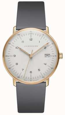 Junghans Макс часы damen кварцевые серые кожаные часы 047/7854.04