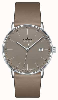 Junghans Создайте автоматические часы с коричневым кожаным ремешком. 027/4832.00