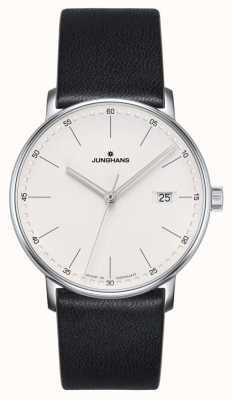 Junghans Форма кварцевые черные кожаные часы 041/4884.00