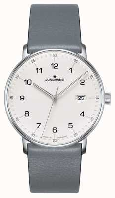 Junghans Форма кварцевого серого ремешка из телячьей кожи 041/4885.00