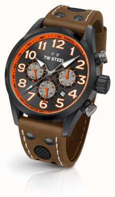 TW Steel Коронель дакар ограниченным тиражом коричневый кожаный ремешок черный циферблат TW975