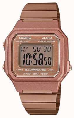 Casio Vintage Core классический цифровой осветитель розовое золото B650WC-5AEF